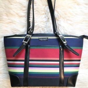 Kate Spade Rainbow Striped Shoulder Purse Bag